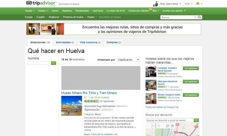 Atracciones Huelva