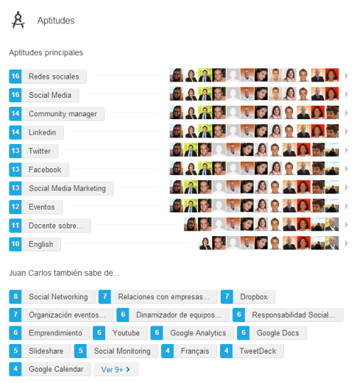 Valores Linkedin